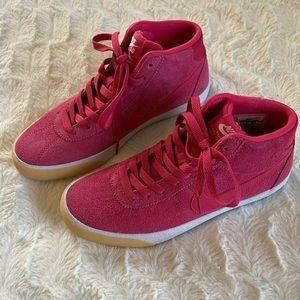 Nike SB Bruin High Top Velvet Pink Suede Casual